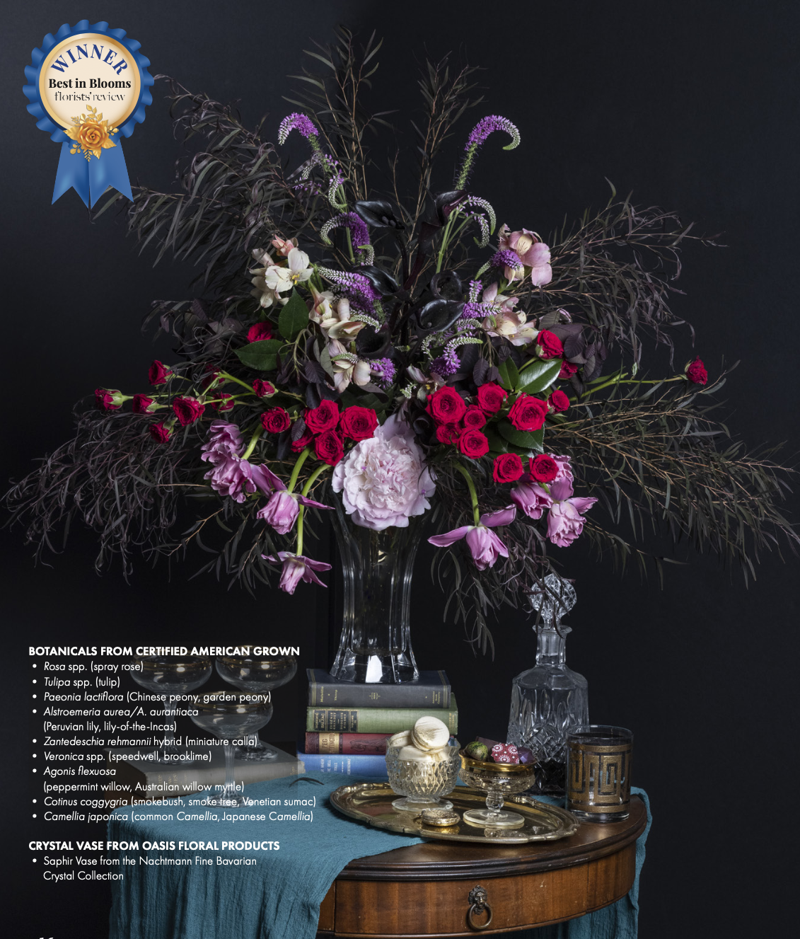 Best in Blooms July 2021 Winning Design by Melissa Park of Anthera Floral Design