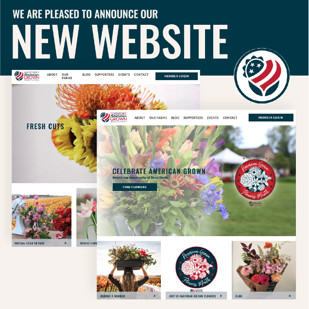 Graphic image of Certified American Grown's new website home page.