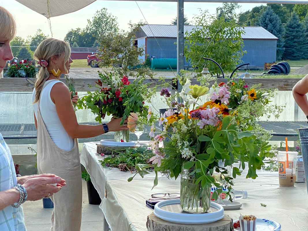 Floral Design Workshop with wine